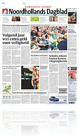 Cover Noordhollands Dagblad / Dagblad voor West-Friesland